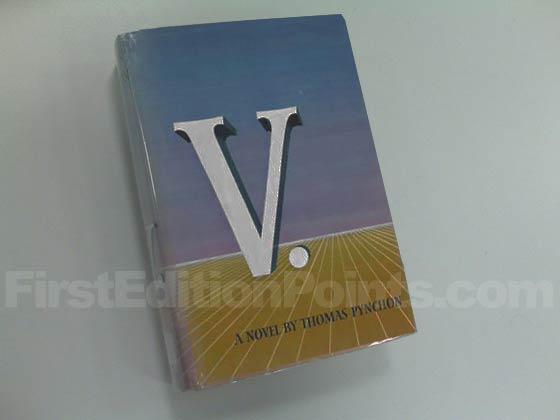 Picture of the 1963 first edition dust jacket for V..