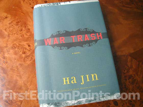 Picture of the 2004 first edition dust jacket for War Trash.