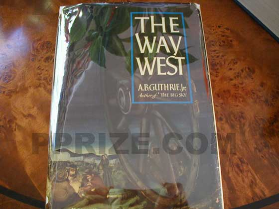 Picture of the 1949 first edition dust jacket for The Way West.