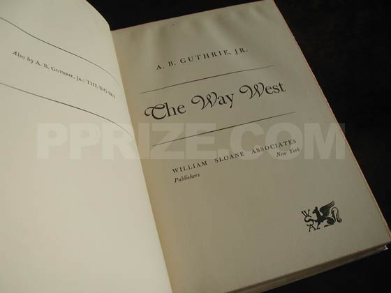 Picture of the title page for The Way West.