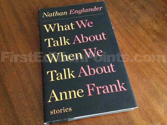 Picture of the 2012 first edition dust jacket for What We Talk About When We Talk About
