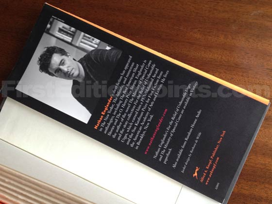 Picture of the back dust jacket flap for the first edition of What We Talk About When We