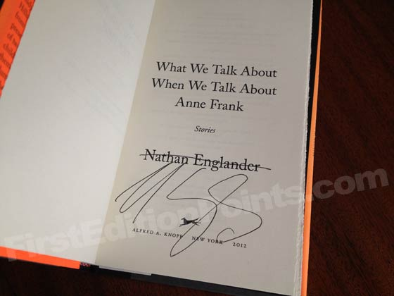 Picture of the first edition title page for What We Talk About When We Talk About Anne