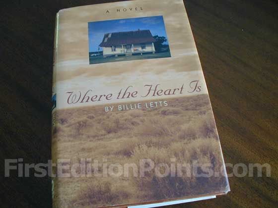 Picture of the 1995 first edition dust jacket for Where the Heart is.
