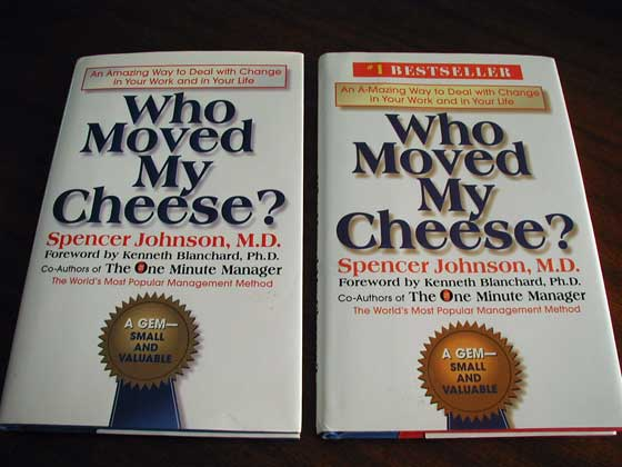 who moved my cheese essay The story tells the tale of four characters of which two are mice sniff and scurry, and the other two, littlepeople haw and hem-they who are humans, the only.