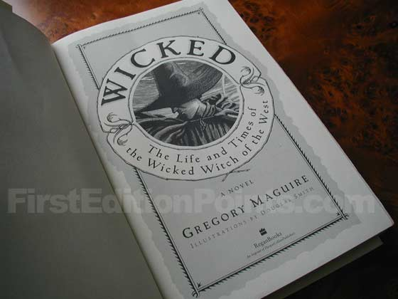 Picture of the first edition title page for Wicked.