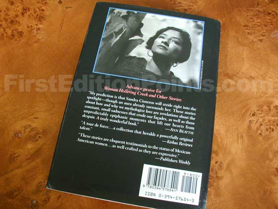 Picture of the back dust jacket for the first edition of Woman Hollering Creek and Other