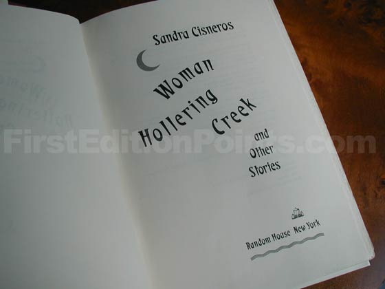 Picture of the first edition title page for Woman Hollering Creek and Other Stories.