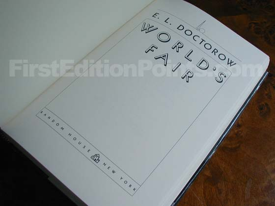 Picture of the first edition title page for World's Fair.