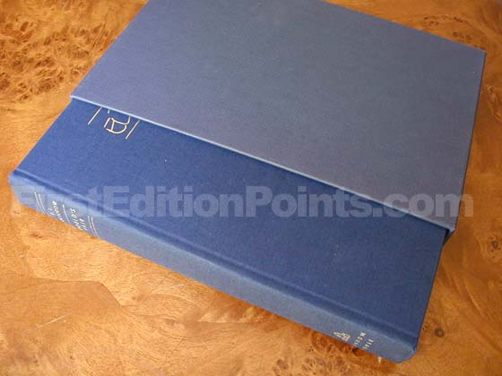 The specially bound 300 books were issued in a slipcase.