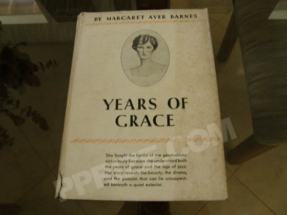 Picture of the 1930 first edition dust jacket for Years of Grace.  Photo courtesy of 