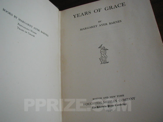 Picture of the title page for Years of Grace.