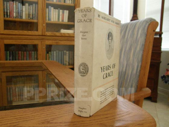 Picture of the dust jacket spine for the first edition of Years of Grace.  Photo courtesy