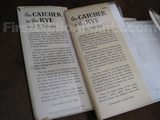 Catcher In The Rye First Edition And Book Club Edition