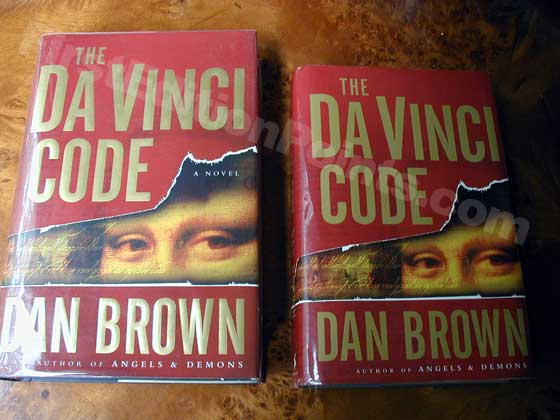 Da Vinci Code Front First Edition And Book Club Edition