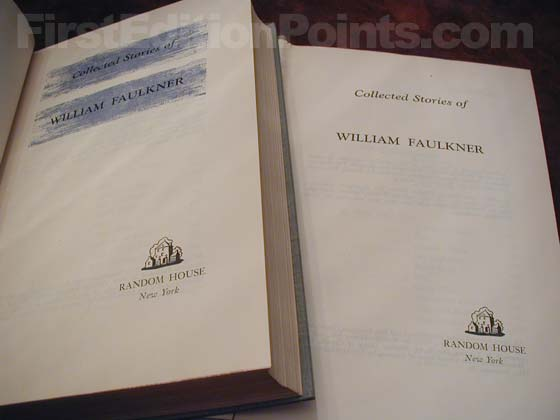 Collected Stories Faulkner Book Club Versus First Edition