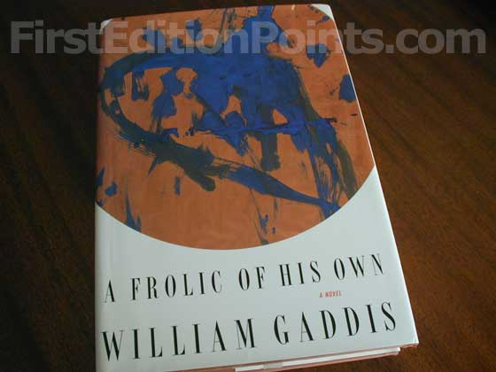 Picture of the 1994 first edition dust jacket for A Frolic of His Own.