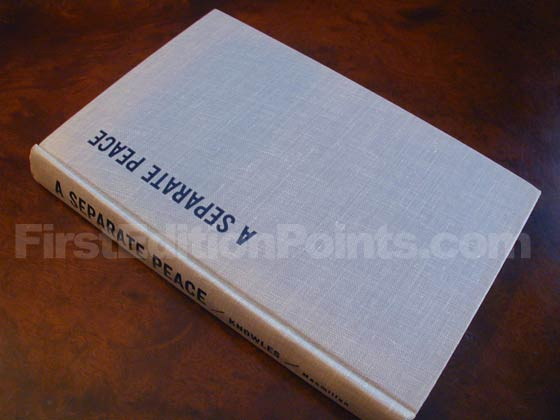 Picture of the first edition Macmillan boards for A Separate Peace (U.S.).