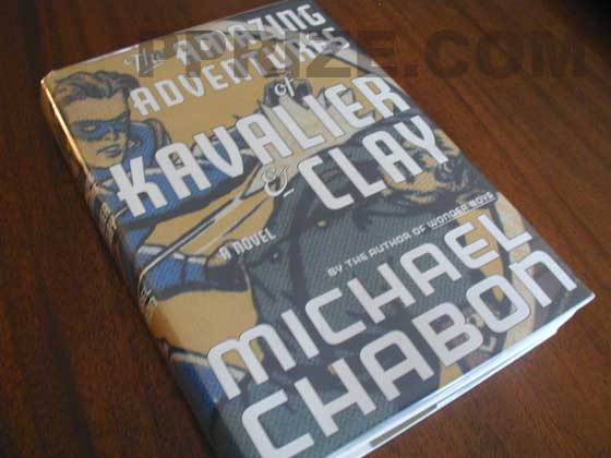 Picture of the 2000 first edition dust jacket for The Amazing Adventures of Kavalier and