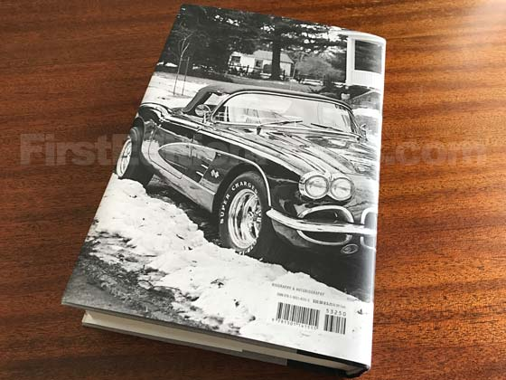Picture of the author's 1960 Corvette on the back dust jacket for the first edition