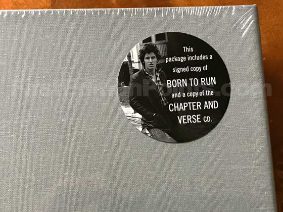 The sticker on the shrink wrap of the Deluxe Limited Edition of Born to Run describes