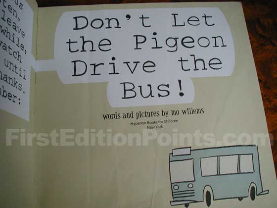 Identification picture of Don't Let the Pigeon Drive the Bus!.