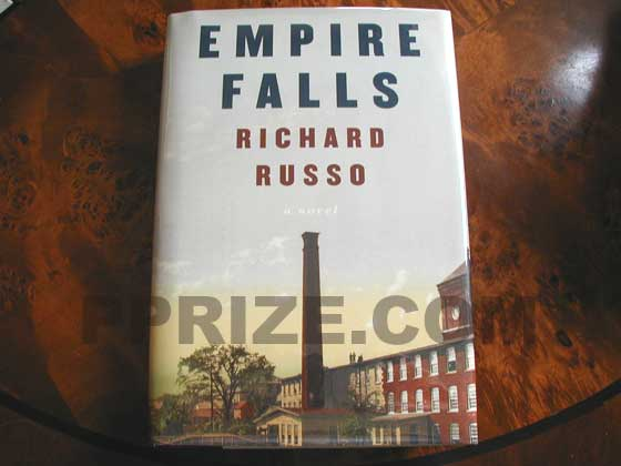 Picture of the 2001 first edition dust jacket for Empire Falls.