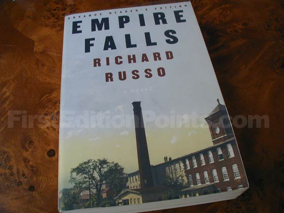 This is a photo of the Advance Reader's Edition of Empire Falls.