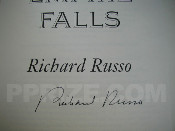 Autograph: Signature of Richard Russo.
