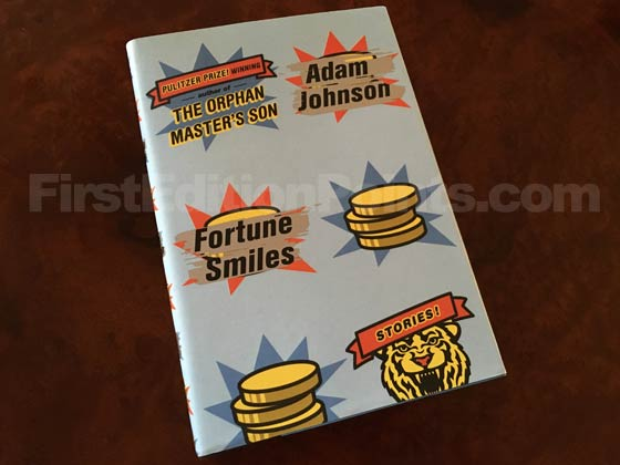 Picture of the 2015 first edition dust jacket for Fortune Smiles.