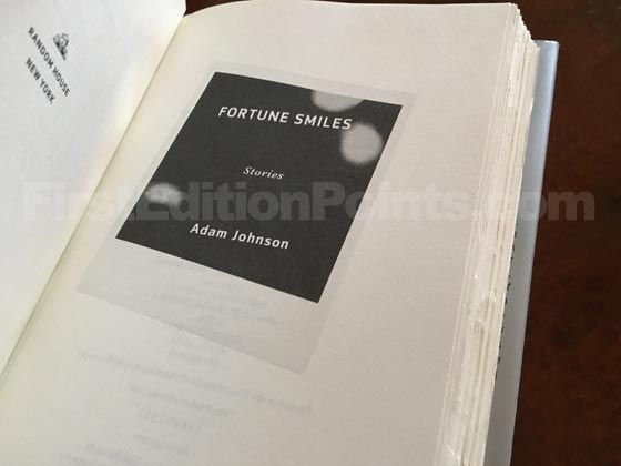 Picture of the first edition title page for Fortune Smiles.