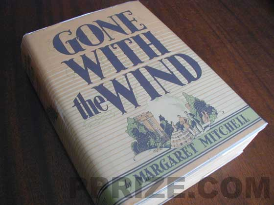 Picture of the 1936 first edition dust jacket for Gone with the Wind.