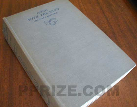 Picture of the first edition Macmillan boards for Gone with the Wind.