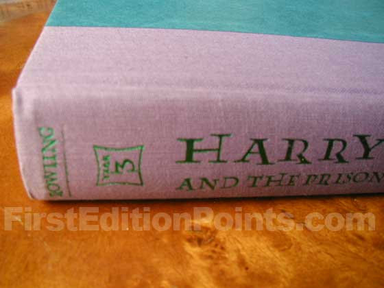 The first printing has a YEAR 3 badge on the upper spine of both the book and the dust