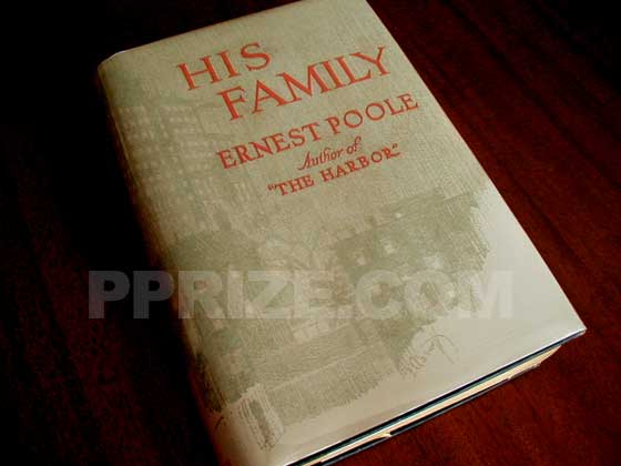 Picture of the 1917 first edition dust jacket for His Family.