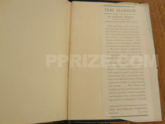Picture of the back dust jacket flap for His Family. Photo courtesy of James Cahill/Rare