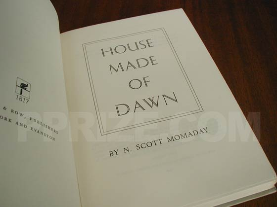 Picture of the first edition title page for House Made of Dawn.