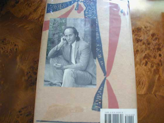 Picture of the back dust jacket for the first edition of Independence Day.