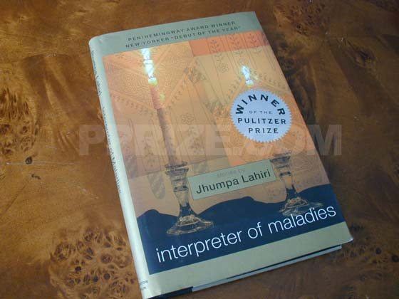 This is the front cover from the first hardcover edition of Interpreter of Maladi