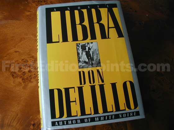 Picture of the 1988 first edition dust jacket for Libra.