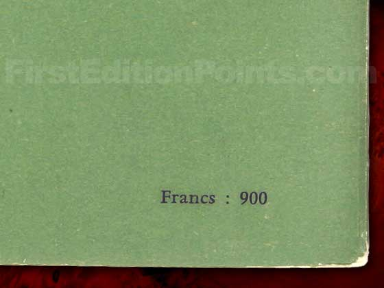 The price on the rear of both softcover wrappers of the true first edition of Lolita says