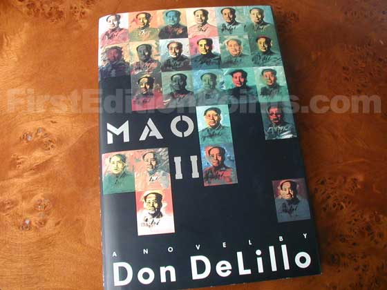 Picture of the 1991 first edition dust jacket for Mao II.