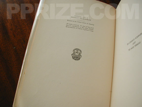 This is a copyright page from a later printing. While is has a seal, it is missing the