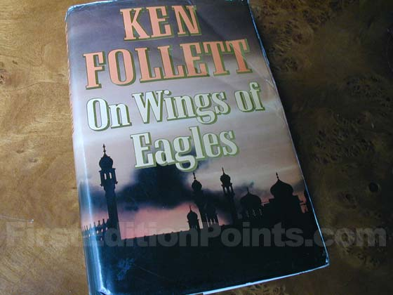 Picture of the 1983 first edition dust jacket for On Wings of Eagles.