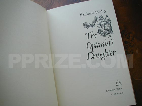 This is the title page for the first trade edition of The Optimist's Daughter