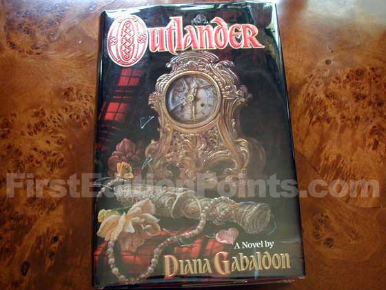 Picture of the 1991 first edition dust jacket for Outlander.