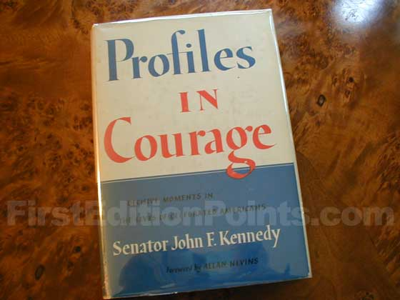 Picture of the 1955 first edition dust jacket for Profiles In Courage.