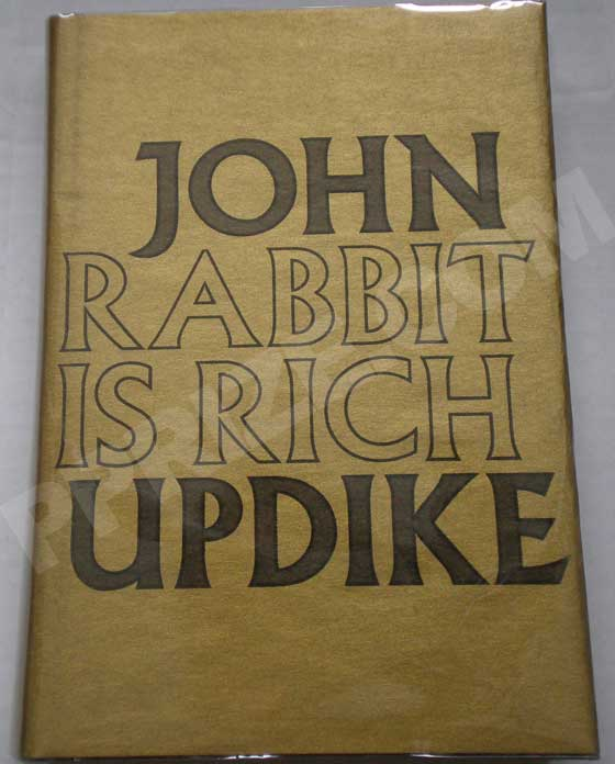 Picture of the limited first edition dust jacket for Rabbit is Rich.