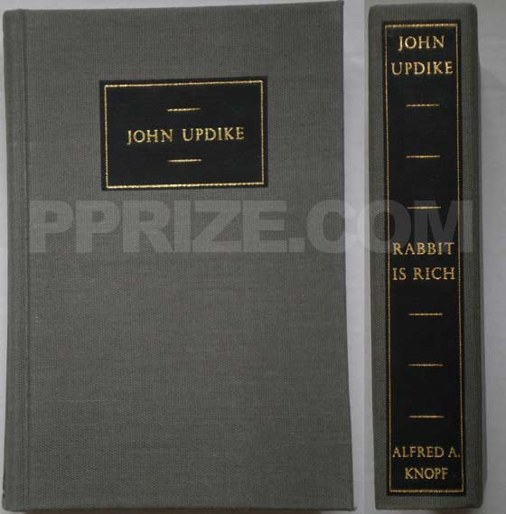 The limited first edition of Rabbit is Rich has gray cloth binding and was issued in a