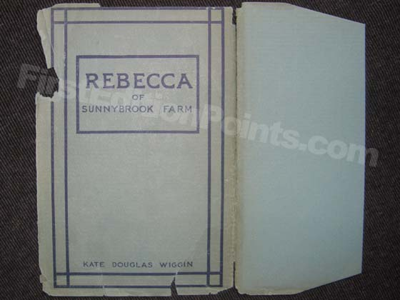 Picture of the 1903 first edition dust jacket front from Rebecca of Sunnybrook Farms.